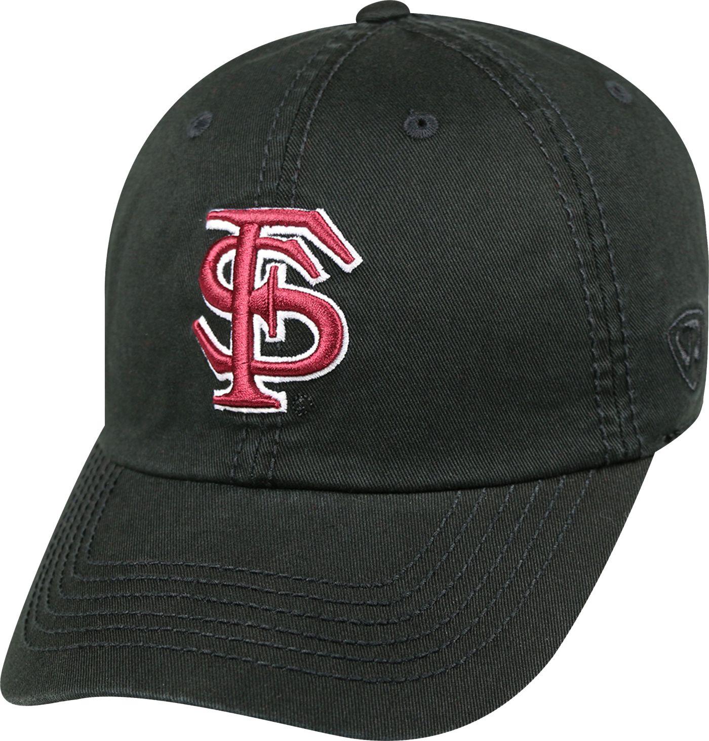 Top of the World Men's Florida State Seminoles Black Crew Adjustable Hat