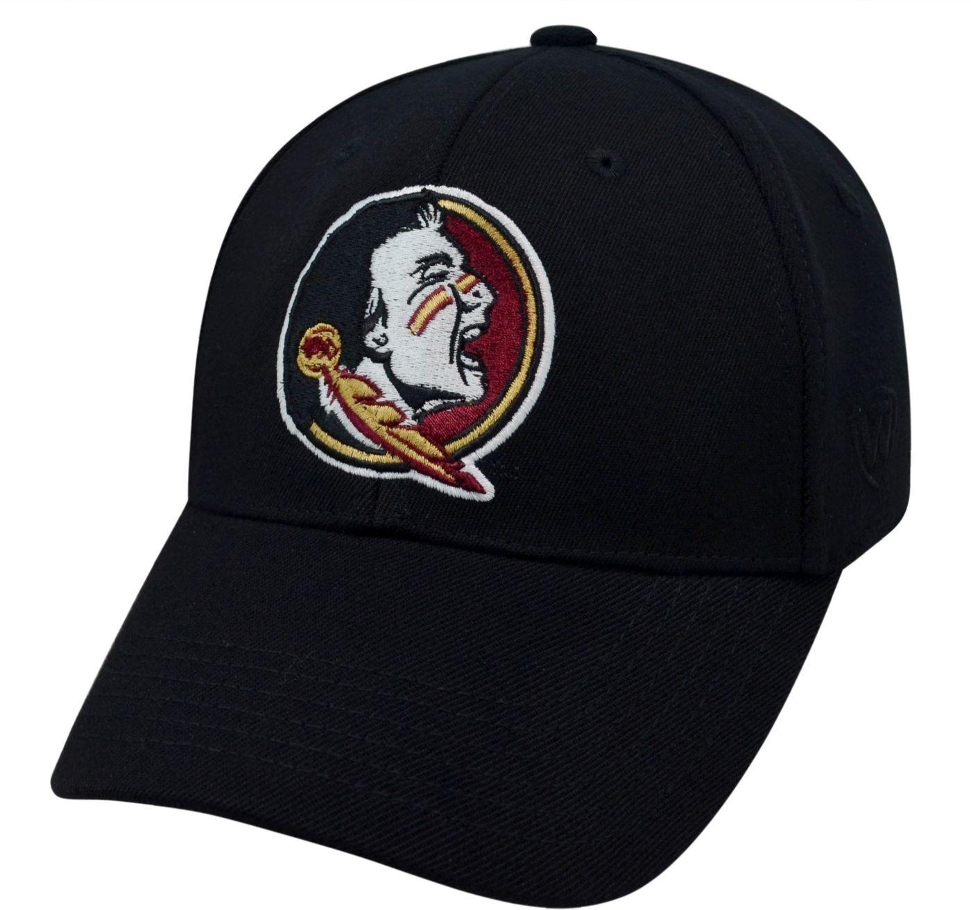 Top of the World Men's Florida State Seminoles Black Premium Collection M-Fit Hat