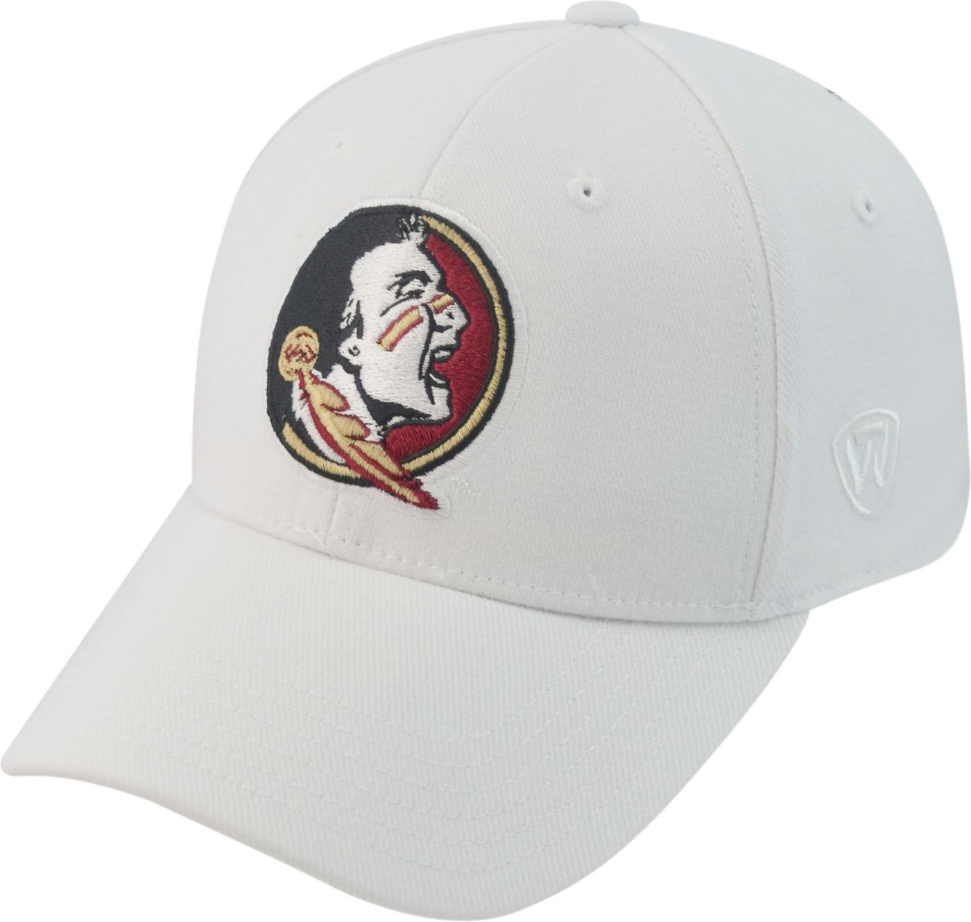 Top of the World Men's Florida State Seminoles White Premium Collection M-Fit Hat