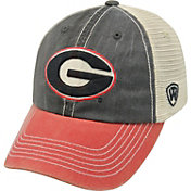 Top of the World Men's Georgia Bulldogs Black/White/Red Off Road Adjustable Hat
