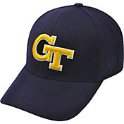 Top of the World Men's Georgia Tech Yellow Jackets Navy Premium Collection M-Fit Hat