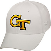 Top of the World Men's Georgia Tech Yellow Jackets White Premium Collection M-Fit Hat