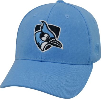 Top of the World Men s Johns Hopkins Blue Jays Columbia Blue Premium  Collection M-Fit Hat  dbb66ca2f467