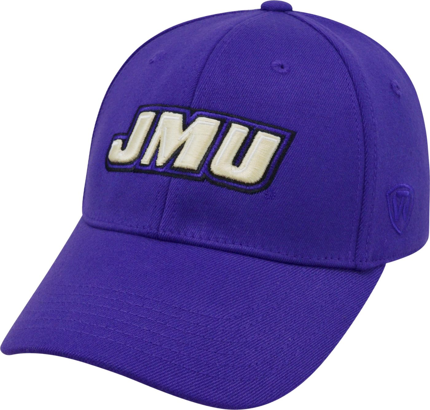 Top of the World Men's James Madison Dukes Purple Premium Collection M-Fit Hat