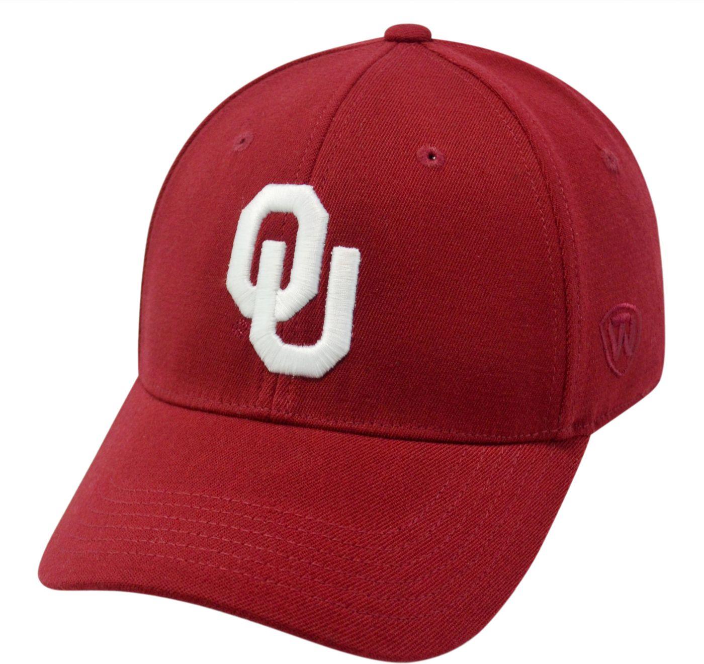 Top of the World Men's Oklahoma Sooners Crimson Premium Collection M-Fit Hat