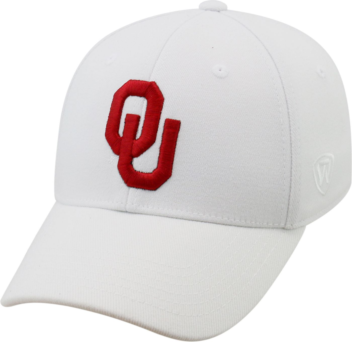 Top of the World Men's Oklahoma Sooners White Premium Collection M-Fit Hat