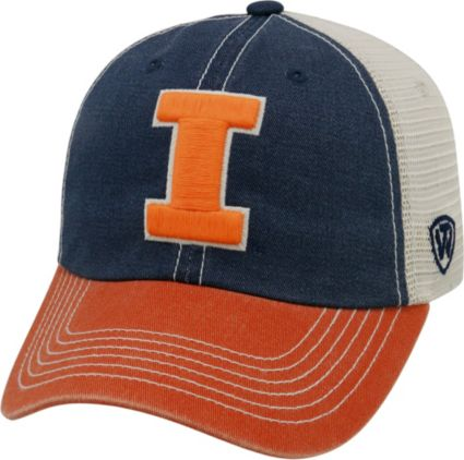a56f8ccf16a Top of the World Men s Illinois Fighting Blue White Orange Off Road  Adjustable Hat