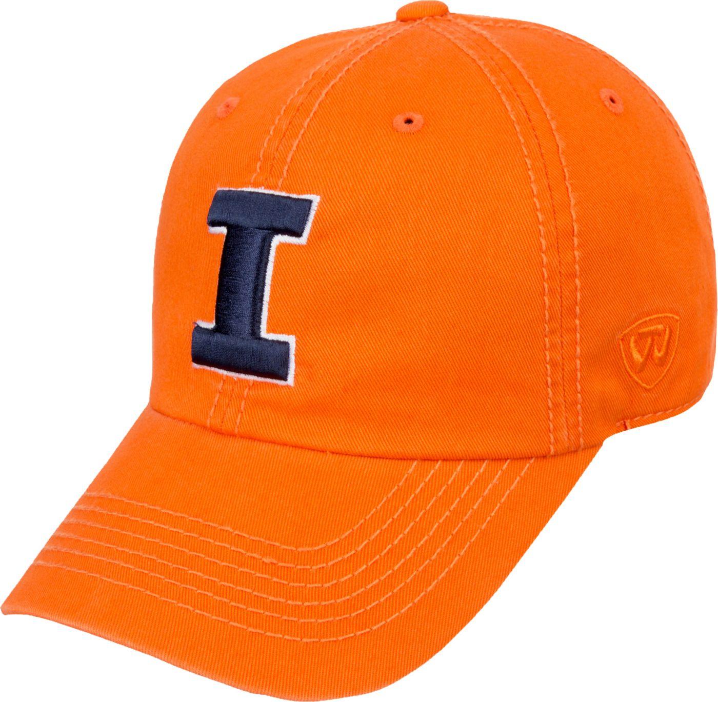Top of the World Men's Illinois Fighting Illini Orange Crew Adjustable Hat