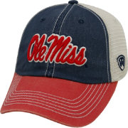 Top of the World Men's Ole Miss Rebels Blue/White/Red Off Road Adjustable Hat