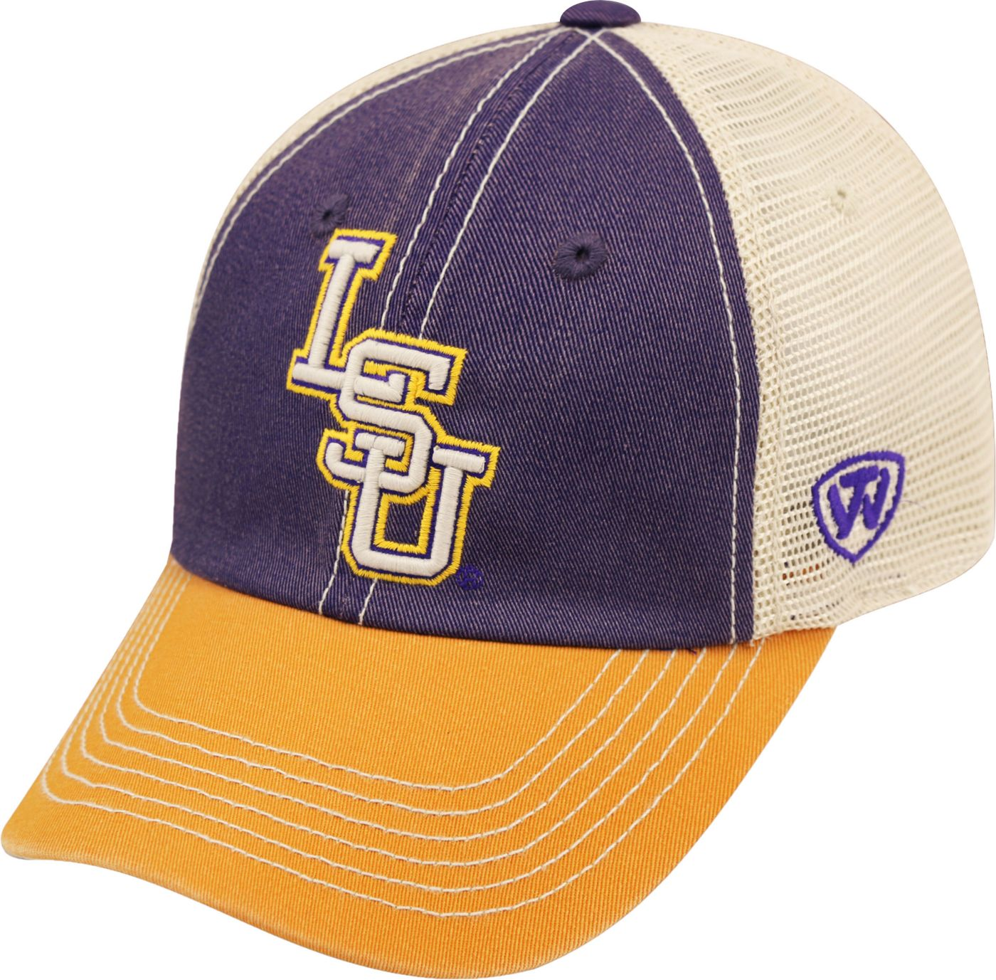Top of the World Men's LSU Tigers Purple/White/Gold Off Road Adjustable Hat