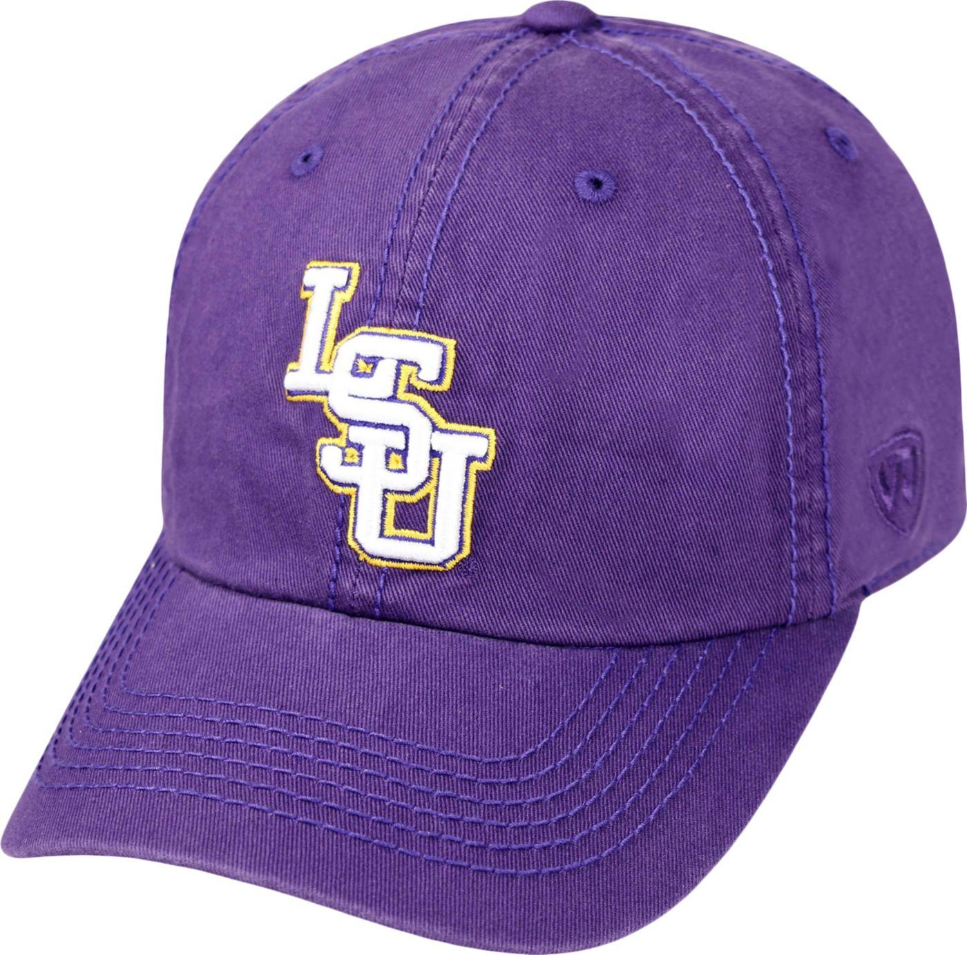Top of the World Men's LSU Tigers Purple Crew Adjustable Hat