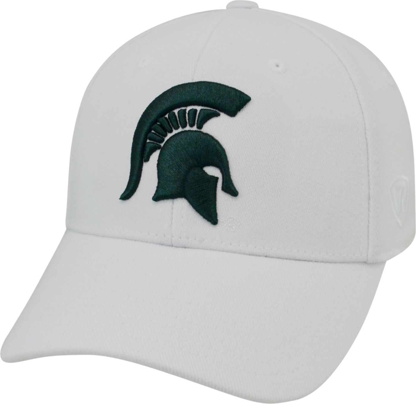 Top of the World Men's Michigan State Spartans White Premium Collection M-Fit Hat