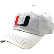 Top of the World Men's Miami Hurricanes White Crew Adjustable Hat