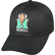 Top of the World Men's Marshall Thundering Herd Black Premium Collection M-Fit Hat