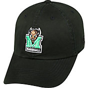 Top of the World Men's Marshall Thundering Herd Black Crew Adjustable Hat