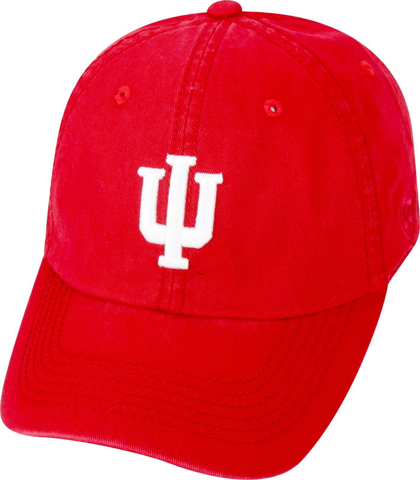 Top of the World Men's Indiana Hoosiers Crimson Crew Adjustable Hat