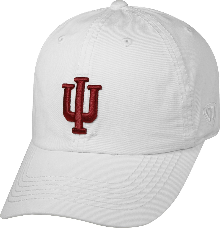 Top of the World Men's Indiana Hoosiers White Crew Adjustable Hat