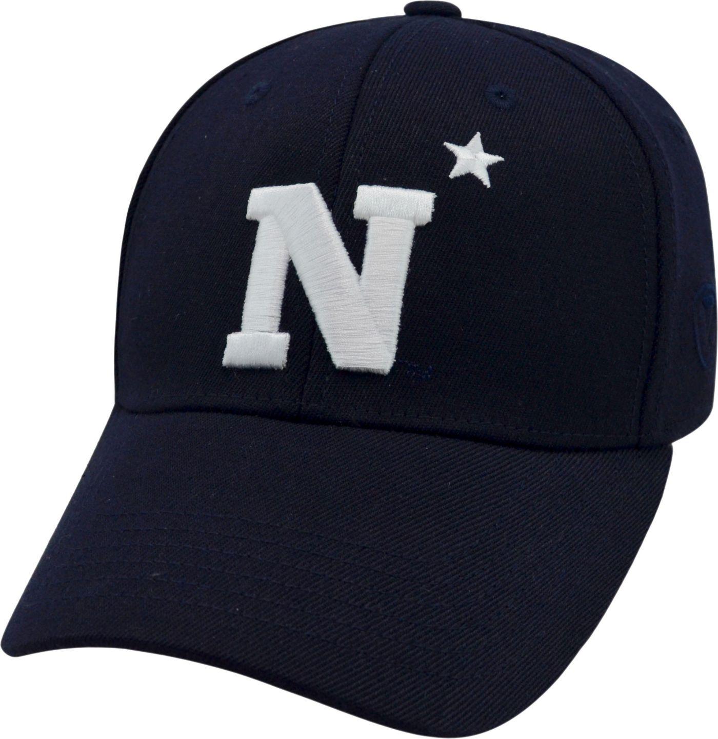 Top of the World Men's Navy Midshipmen Navy Premium Collection M-Fit Hat