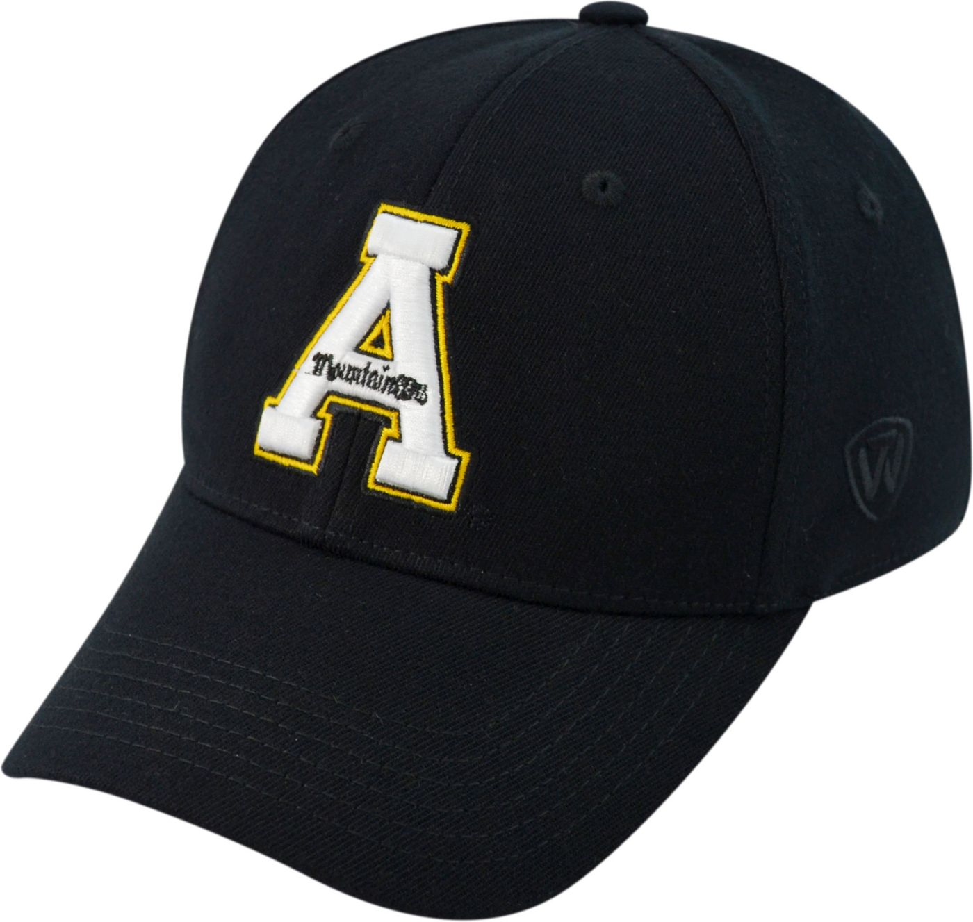 Top of the World Men's Appalachian State Mountaineers Black Premium Collection M-Fit Hat