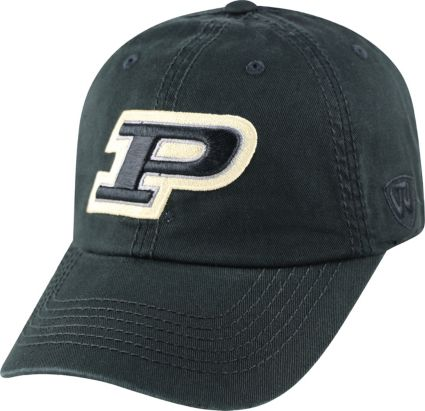 competitive price e647d 679da Top of the World Men s Purdue Boilermakers Black Crew Adjustable Hat.  noImageFound