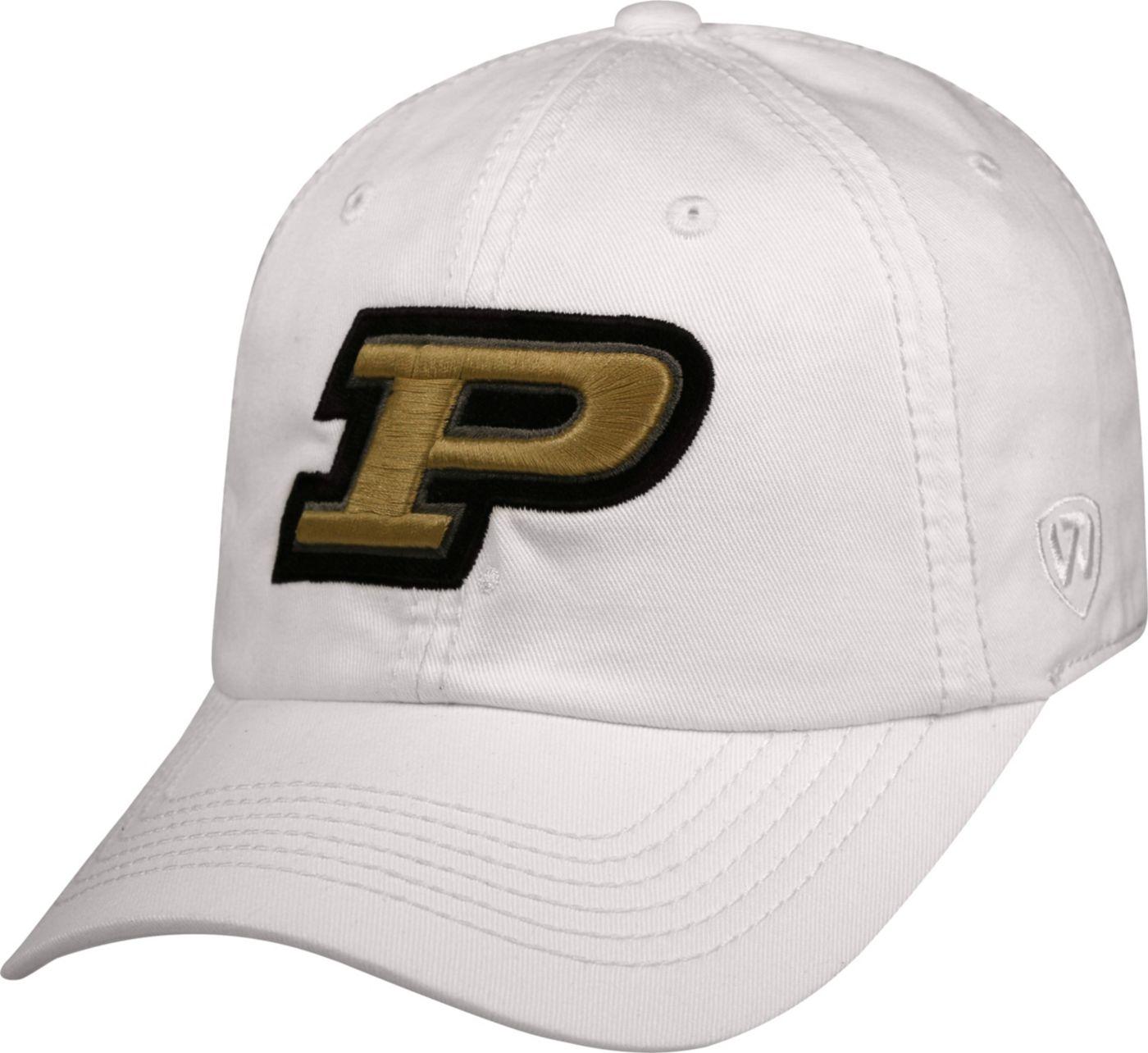 Top of the World Men's Purdue Boilermakers White Crew Adjustable Hat