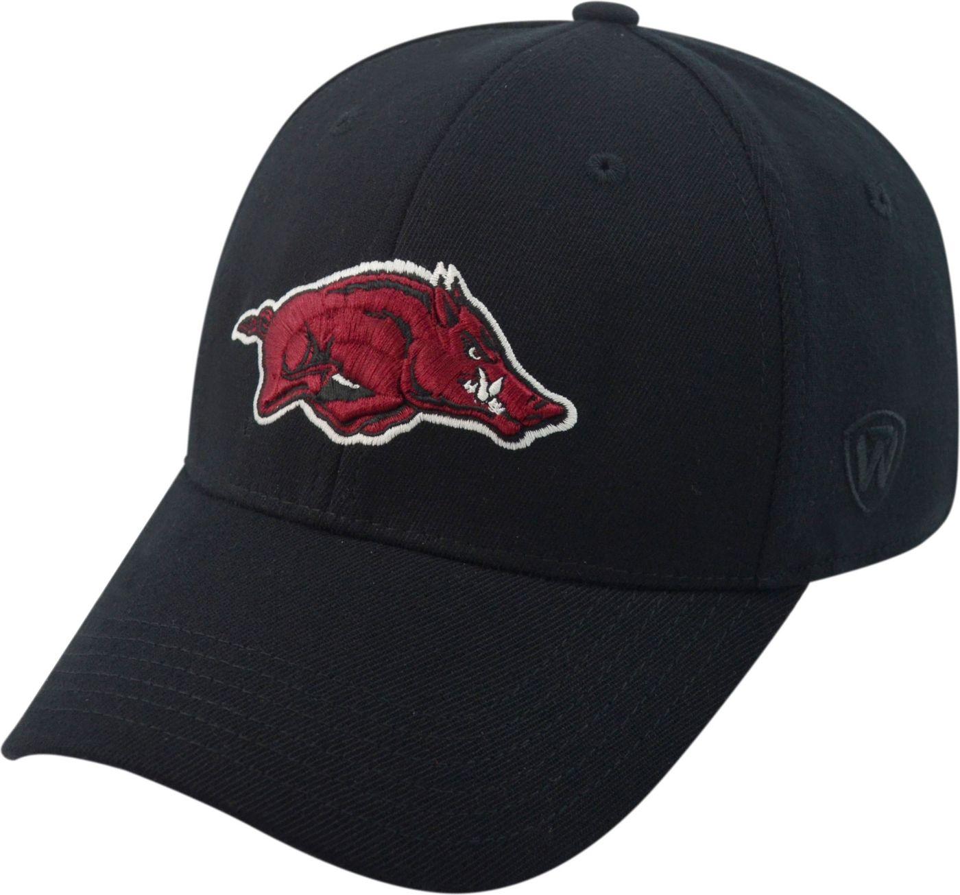 Top of the World Men's Arkansas Razorbacks Black Premium Collection M-Fit Hat