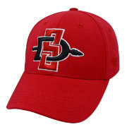 Top of the World Men's San Diego State Aztecs Scarlet Premium Collection M-Fit Hat