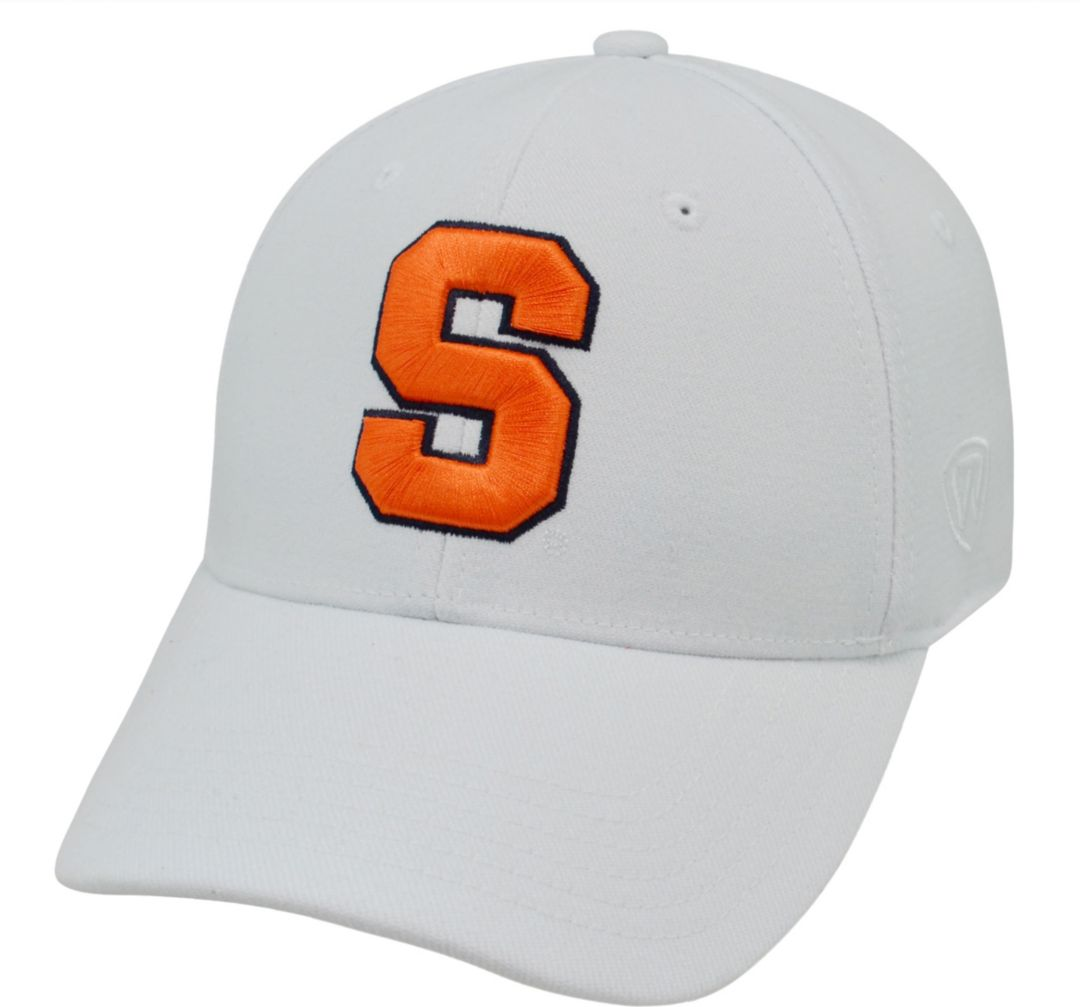 half off 15950 f4e8f Top of the World Men s Syracuse Orange White Premium Collection M-Fit Hat 1