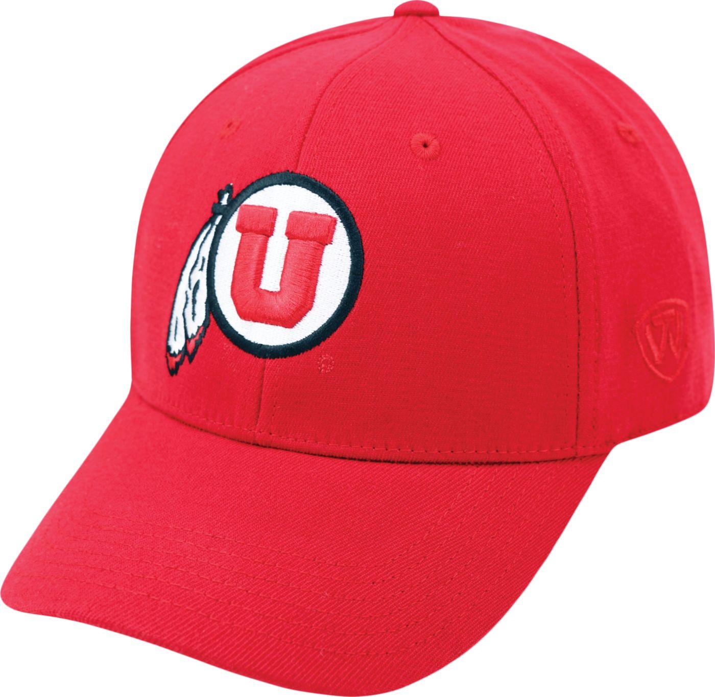 Top of the World Men's Utah Utes Crimson Premium Collection M-Fit Hat