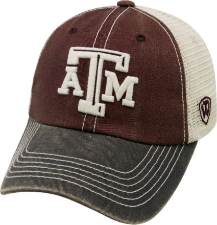 quality design d56a8 904c4 Top of the World Men s Texas A M Aggies Maroon White Grey Off Road  Adjustable Hat