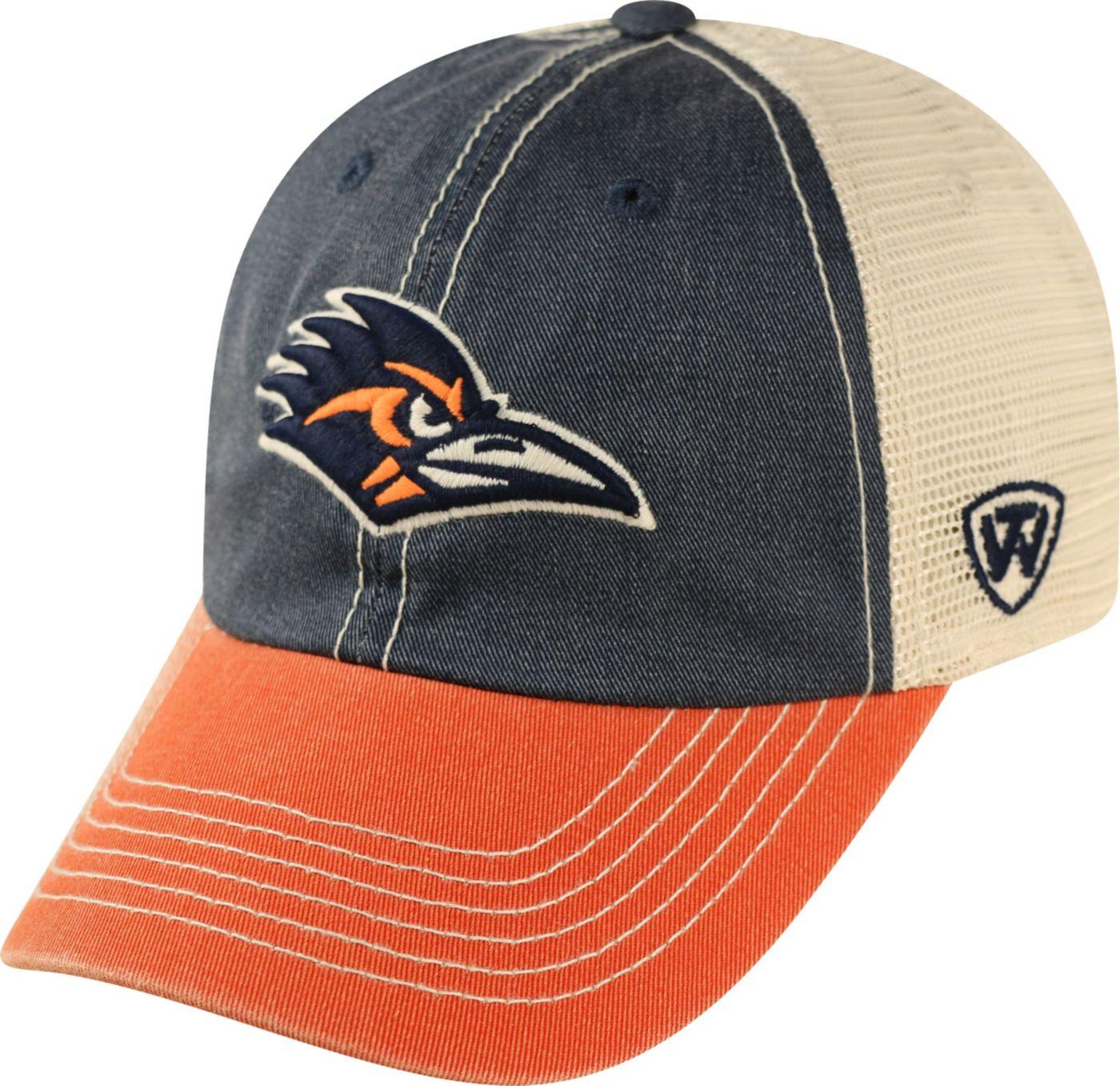 Top of the World Men's UT San Antonio Roadrunners Blue/White/Orange Off Road Adjustable Hat