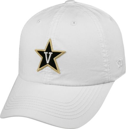 lowest price 0e85a c9909 Top of the World Men  39 s Vanderbilt Commodores White Crew Adjustable Hat