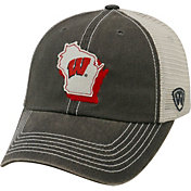 Top of the World Men's Wisconsin Badgers Grey/White United Adjustable Snapback Hat