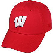 Top of the World Men's Wisconsin Badgers Red Crew Adjustable Hat