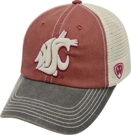 meet 42443 ed526 Top of the World Men s Washington State Cougars Crimson White Black Off  Road Adjustable Hat