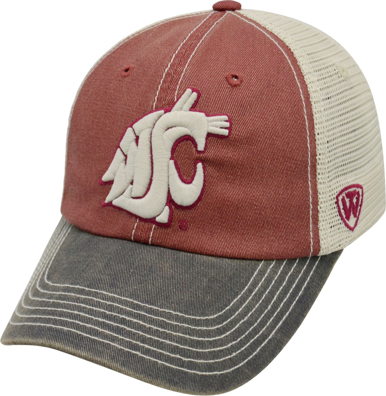 Top of the World Men's Washington State Cougars Crimson/White/Black Off Road Adjustable Hat