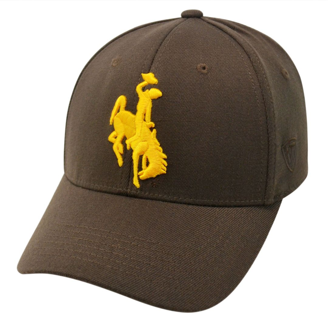 Top of the World Men's Wyoming Cowboys Brown Premium Collection M-Fit Hat