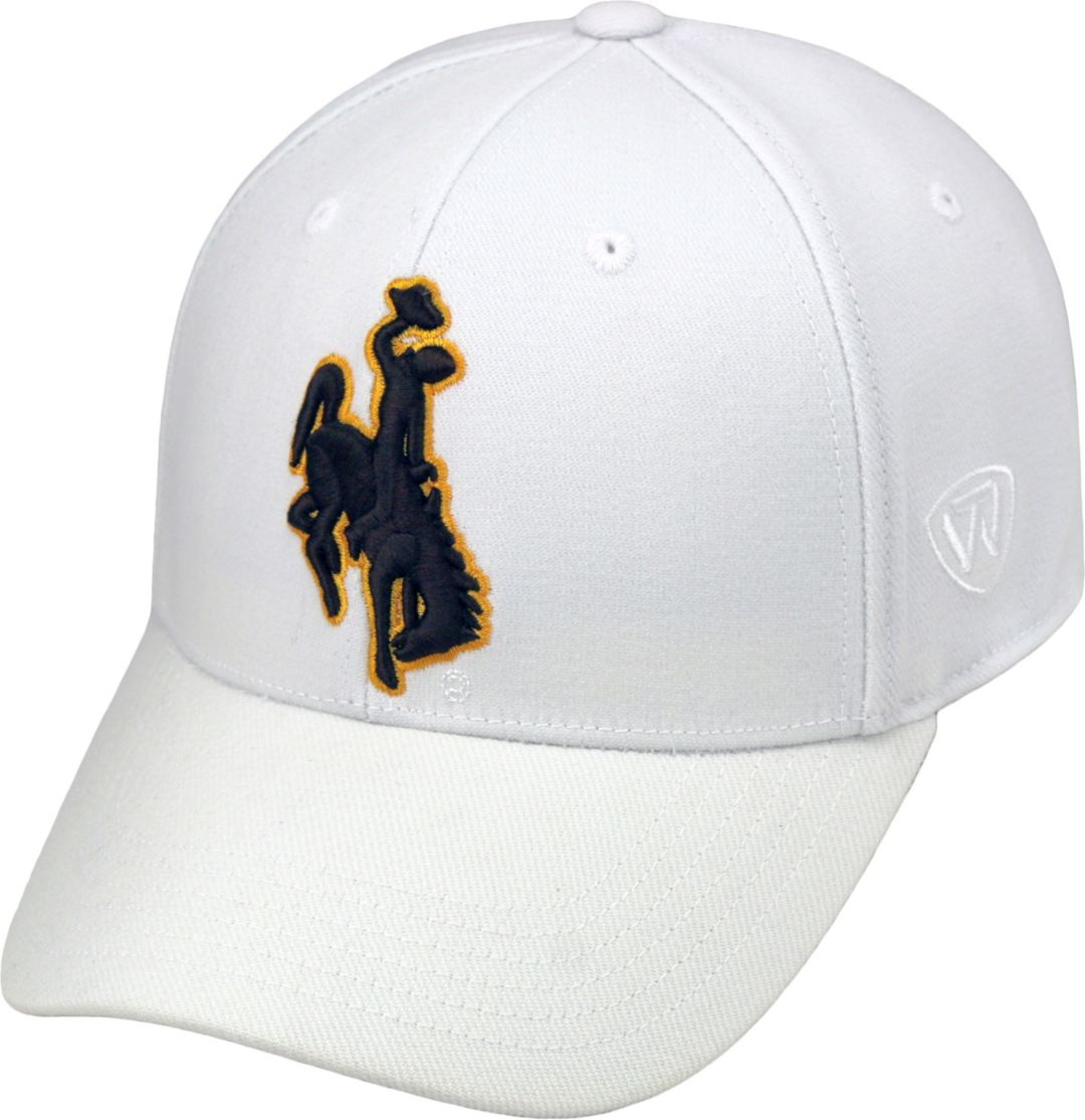 Top of the World Men's Wyoming Cowboys White Premium Collection M-Fit Hat
