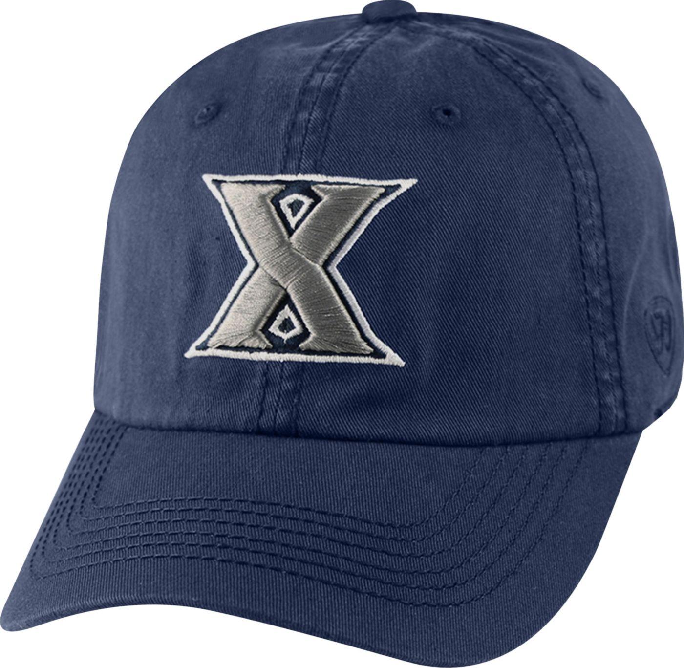 Top of the World Men's Xavier Musketeers Blue Crew Adjustable Hat
