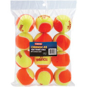 Tourna Kids' Stage 2 Low Compression Balls - 12 Pack