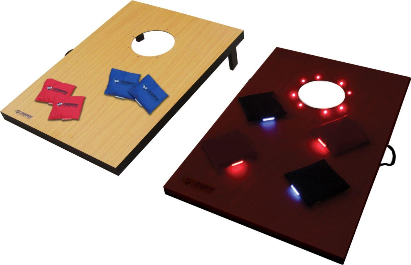 Triumph LED Lighted Tournament Bag Toss Game Set