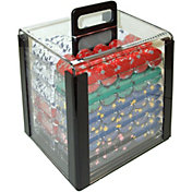 Trademark Poker 1,000 Pro Clay Casino Chip Poker Set and Case