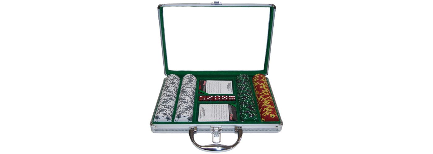 Trademark Poker 1,000 Tri Color Suited Chip Poker Set and Case