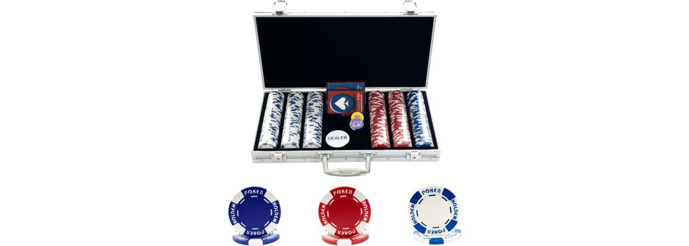 Trademark Poker 300 Hold'Em Poker Chip Set and Case