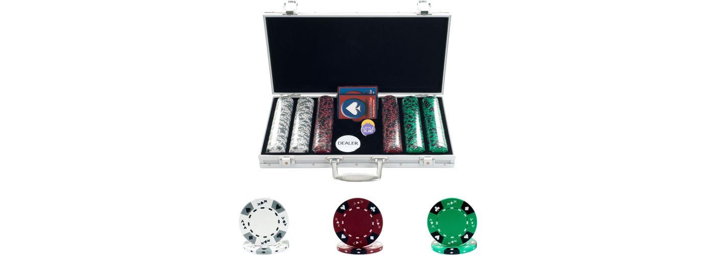 Trademark Poker 300 Tri Color Suited Chip Poker Set and Case