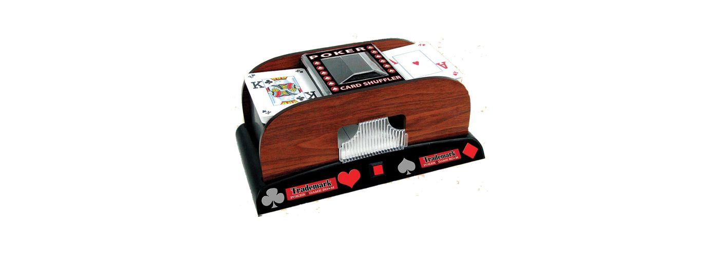 Trademark Poker Wooden Card Shuffler