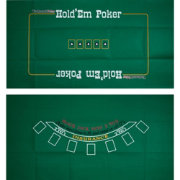 Trademark Poker Blackjack and Texas Hold 'Em Double-Sided Layout