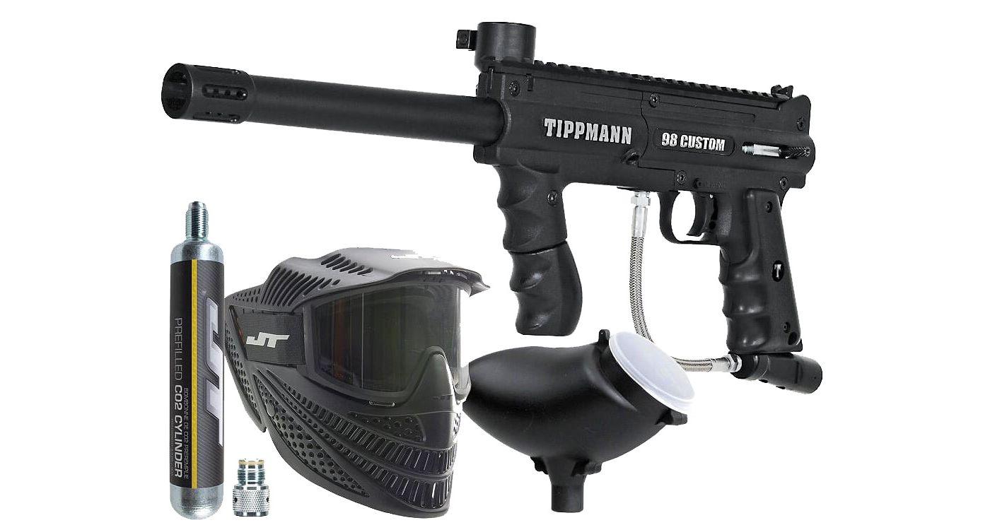 Tippmann 98 Custom PowerPack Paintball Gun Kit – 90 Gram C02