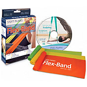 STOTT PILATES Non-Latex Flex-Bands Three-Pack w/ DVD