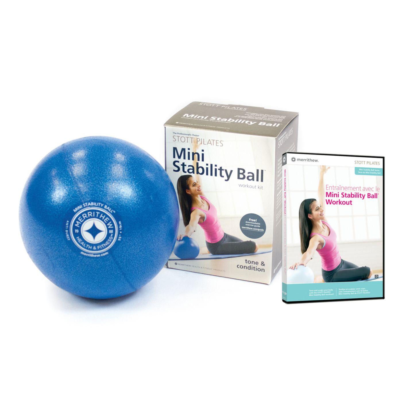 STOTT Pilates 18 cm Mini Stability Ball w/ DVD Kit